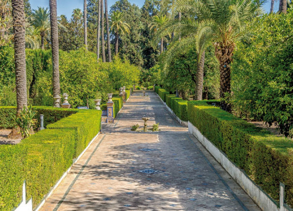 Alcazar Gardens in Seville